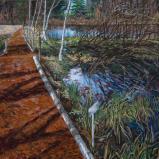Bernard Bailly, Düdinger Moos , 2015, Peinture acrylique sur toile, 123 x 170 cm