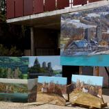 Bernard Bailly, Tentlingen, l'atelier, tableaux d'Ogoz, 2016