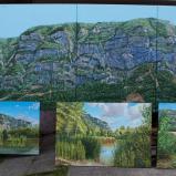 Bernard Bailly,Tentlingen, l'atelier, tableaux du Salève, 2017