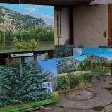 Bernard Bailly, Tentlingen, l'atelier, tableaux du Salève, 2017