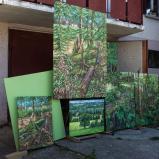Bernard Bailly, Tentlingen, l'atelier, tableaux de Chapelle-sur-Oron, 2017