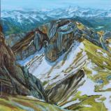Bernard Bailly, Matthorn depuis le sommet du Pilatus, mai 2014, 146 x 114 cm