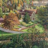 Bernard Bailly, Hauterive en automne 2014, Peinture acrylique sur toile, 200 x 150 cm