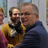 Bernard Bailly, Nuithonie, vernissage le 5 février 2015, Juan Diaz, administrateur de Nuithonie