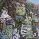 Hauterive en hiver, 2019, Peinture acrylique sur toile, 146 x 114 cm.