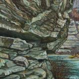 Bernard Bailly, La Molasse à Treyvaux, 2019, Peinture acrylique sur toile, 80 x 60 cm.