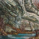 Bernard Bailly, La Molasse à Arconciel, 2019, Peinture acrylique sur toile, 60 x 80 cm. cm.