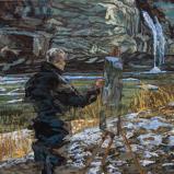 Bernard Bailly, Hauterive, 2018, Peinture acrylique sur toile, 80 x 100 cm.