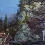 Bernard Bailly, La Sarine à Hauterive, 2012, Peinture acrylique sur toile, 146 x 114 cm