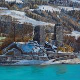 Bernard Bailly, L'Ile d'Ogoz, 2015, Peinture acrylique sur toile, 120 x 160 cm