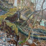 Bernard Bailly, Fribourg, Lac de Pérolles, 2010, Peinture acrylique sur toile, 114 x 146 cm