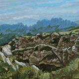 Bernard Bailly, Hochmatt, 2013, Peinture acrylique sur toile, 40 x 30 cm