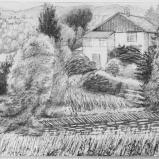Bernard Bailly, Ambleside, Windemere, Cumbria, 2009, Graphite sur papier torchon, 24 x 32 cm