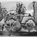 Bernard Bailly, Emmental, 2013, Feutre et peinture acrylique sur toile, 20 x 40 cm