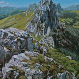 Bernard Bailly, Les Gastosen, 2013, Peinture acrylique sur toile, 40 x 30 cm
