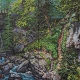 Bernard Bailly, La Source de Rosenlaui, 2015, Peinture acrylique sur toile, 150 x 300 cm