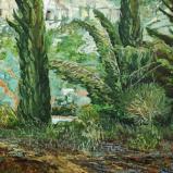 Bernard Bailly, Provence, Les Baux, carrière, 2010, Peinture acrylique sur toile, 65 x 81 cm