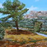 Bernard Bailly, Provence, Maussane-les-Alpilles, Mas Méjan, 2013, Peinture acrylique sur toile, 65  x 81 cm