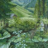Bernard Bailly, Le Patchalet, Vallée du Motélon, 2010, Peinture acrylique sur toile, 81 x 65 cm