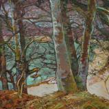 Bernard Bailly, Sur l'Île d'Ogoz, 2009. Peinture acrylique sur toile,114 x 146 cm