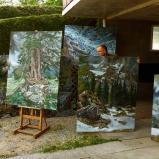 Bernard Bailly,Tentlingen, l'atelier, tableaux de montagne