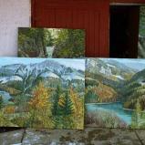 Bernard Bailly, Tentlingen, l'atelier, tableaux de Charmey région