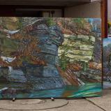 Bernard Bailly, Tentlingen, l'atelier, tableaux Molasse, 2019