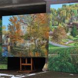Bernard Bailly, Tentlingen, atelier, tableaux  de Fribourg région, 2015