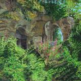 Bernard Bailly, L'Ermitage de la Madeleine, 2012, Peinture acrylique sur toile, 200 x 150 cm