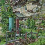 Bernard Bailly, Vallée du Gottéron, 2010, Peinture acylique sur toile, 146 x 114 cm