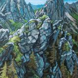 Bernard Bailly, Les Gastlosen, 2020, Peinture acrylique sur toile, 114 x 145 cm