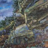 Bernard Bailly, Illens, 2020, Peinture acrylique sur toile, 114 x 145 cm