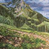 Bernard Bailly, Teysachaux, 2020, Peinture acrylique sur toile, 146 x 114 cm