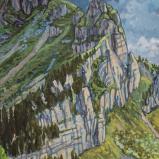 Bernard Bailly. Teysachaux, 2020, Peinture acrylique sur toile, 80 x 60 cm