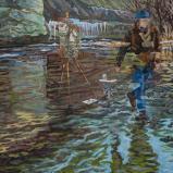 Bernard Bailly, Hauterive, 2019, Peinture acrylique sur toile, 80 x 100 cm