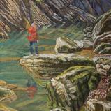 Bernard Bailly, La Jogne, 2018, Peinture acrylique sur toile, 100 x 80 cm