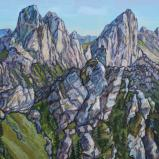 Bernard Bailly, Les Gastlosen, 2019, Peinture acrylique sur toile, 115 x 200 cm